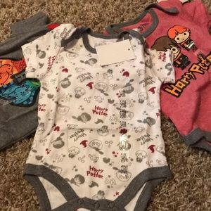 3-6 month Harry Potter Onsies - Set of 3
